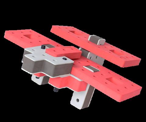 skum legetøj byggeklodser byggesæt lille flyver