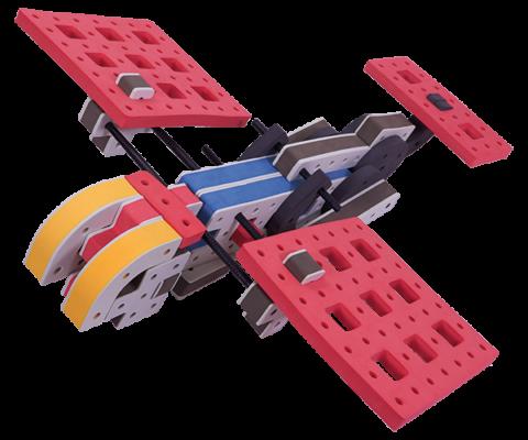 skum legetøj byggekloser byggesæt medium fly