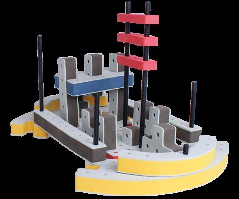 skum legetøj, avanceret bygge konstruktionslegetøj byggesæt stort skib