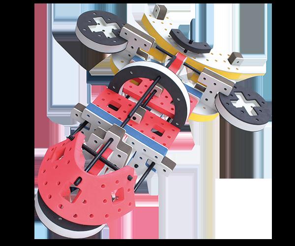 skum legetøj, avanceret bygge konstruktionslegetøj byggesæt stort rumskib