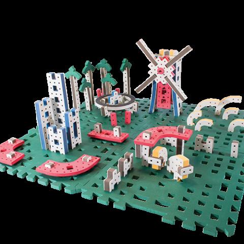 skum legetøj designet til konstruktionslegetøj