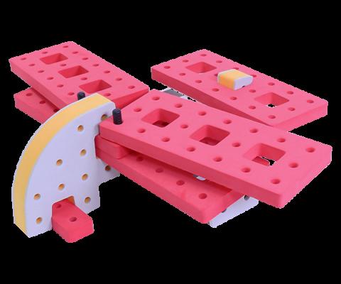 skum legetøj byggeklodser byggesæt dobbel dækker