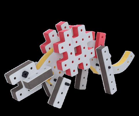 skum legetøj, avanceret bygge konstruktionslegetøj byggesæt stegosaurus