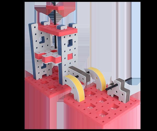 skum legetøj byggekloser byggesæt borings platform