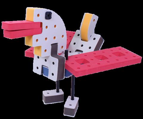byg med bakoba, legetøjs dyr