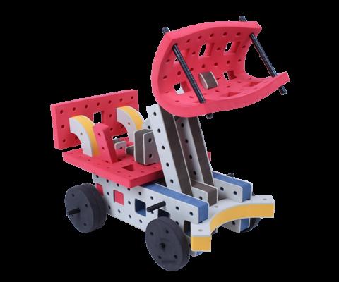 skum legetøj byggekloser byggesæt gravemaskine