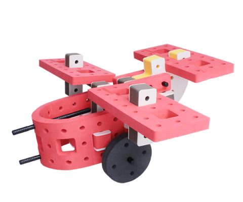 skum legetøj, skumlegetøj byggesæt jagerfly