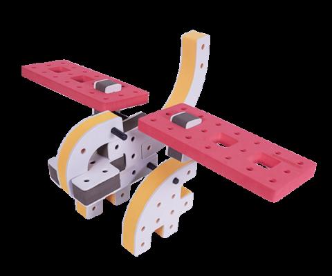 skum legetøj byggeklodser byggesæt øgle flyver