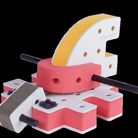 skum legetøj byggesæt mini rumskib