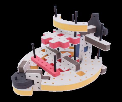 skum legetøj, avanceret bygge konstruktionslegetøj byggesæt multi deck flåde
