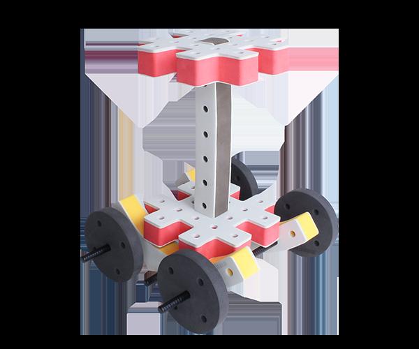 skum legetøj, kreativ legetøj palme bil
