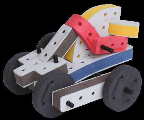 skum legetøj, kreativ legetøj raket bil