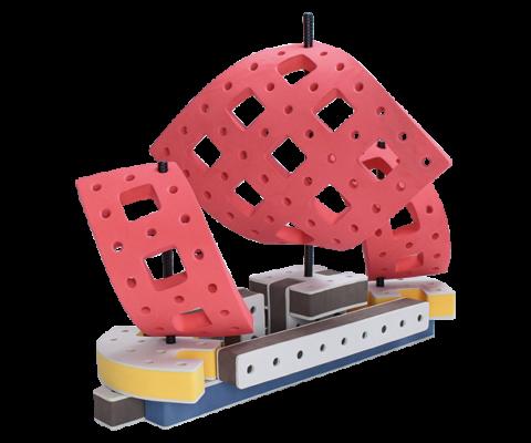skumlegetøj motorik legetøj byggesæt sejlskib
