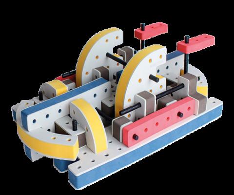 skum legetøj byggesæt båd