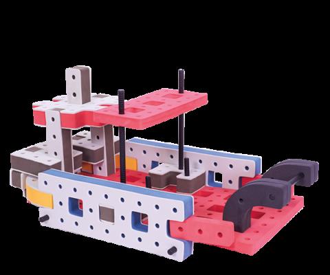 produkt billede af skum legetøj byggekloser byggesæt færge
