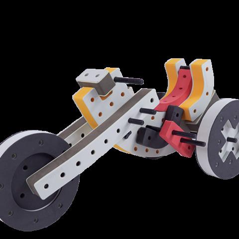 skum legetøj byggesæt trehjulet cykel