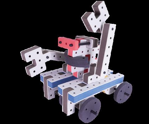 skum legetøj, avanceret bygge konstruktionslegetøj byggesæt kamprobot