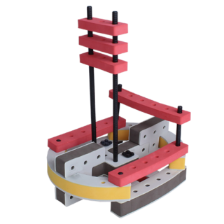 skum legetøj byggekloser byggesæt lille sejlbåd