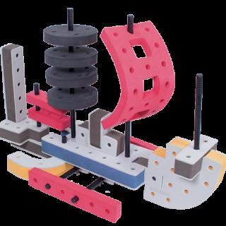skum legetøj, kreativ legetøj byggesæt sejlbåd