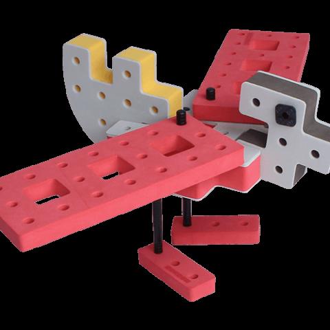 skum legetøj byggeklodser byggesæt ælling