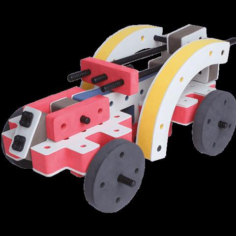 skum legetøj byggekloser byggesæt racerbil