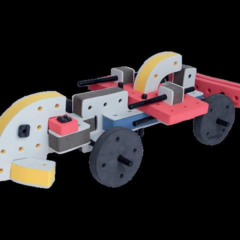 skum legetøj, kreativ legetøj racer bil