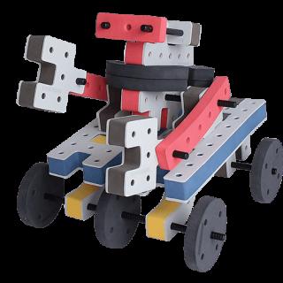 skum legetøj byggekloser byggesæt lille robot