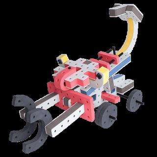skum legetøj byggekloser byggesæt scorpion digger