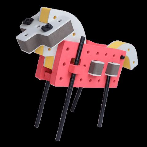 skum legetøj, kreativ legetøj byggesæt hest
