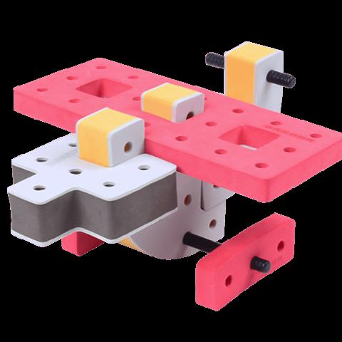 skum legetøj, kreativ legetøj byggesæt lille flyver
