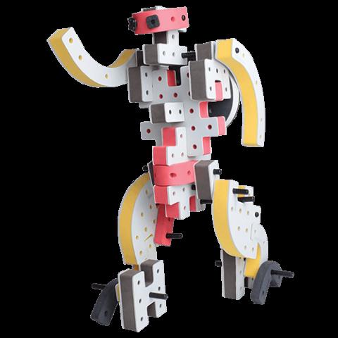 skum legetøj, avanceret bygge konstruktionslegetøj byggesæt stor robot